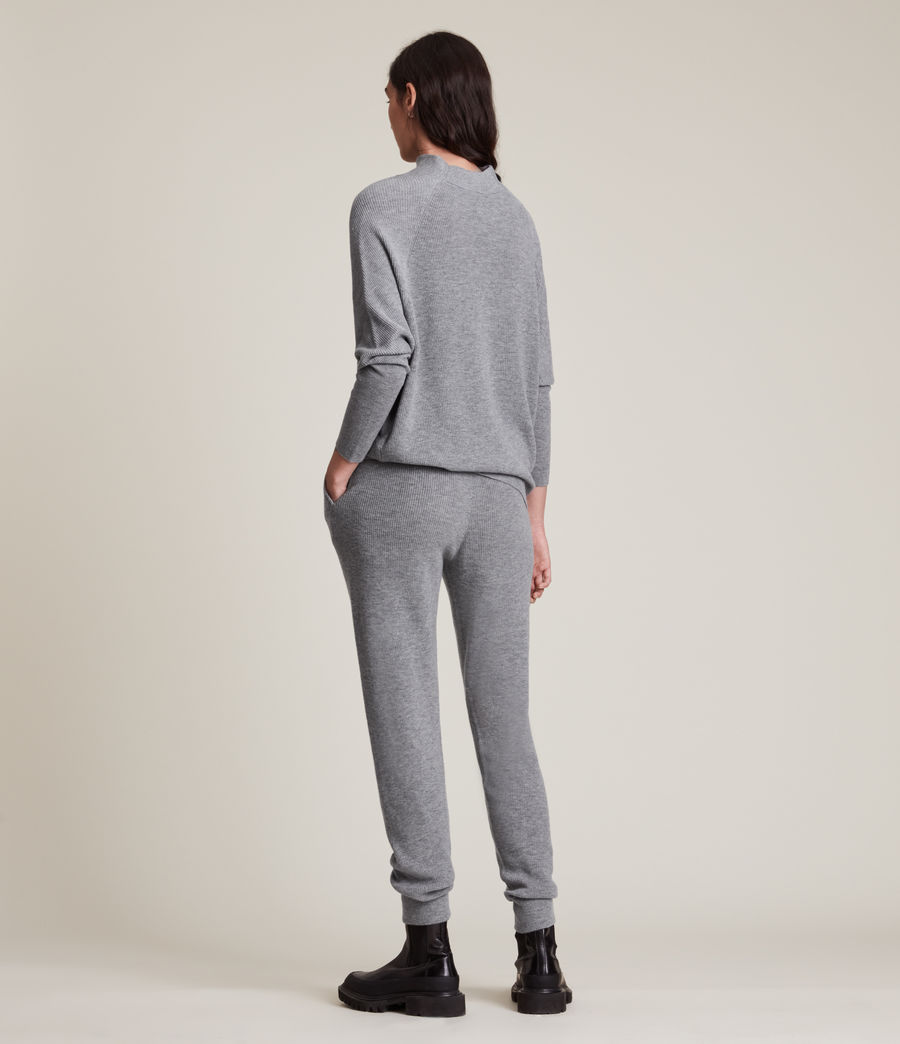 Women's Ridley Wool Cashmere Blend Joggers (thunder_grey) - Image 5