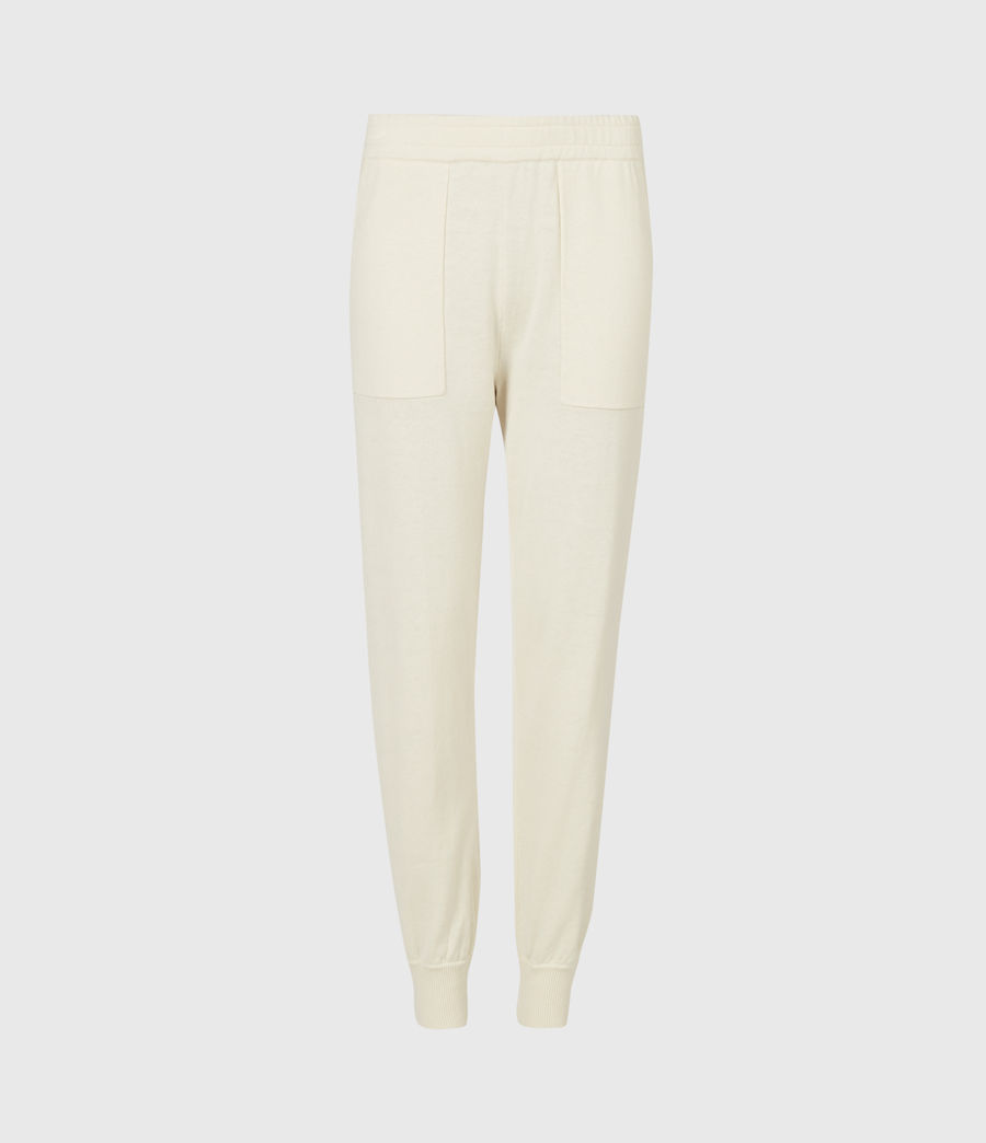 Women's Eli Cuffed Relaxed Joggers (cream_white) - Image 2