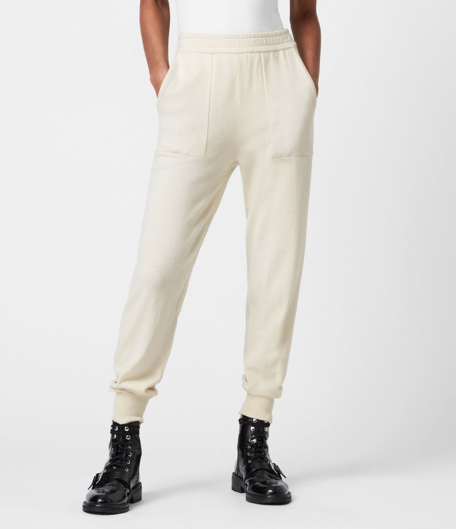 Women's Eli Cuffed Relaxed Joggers (cream_white) - Image 4