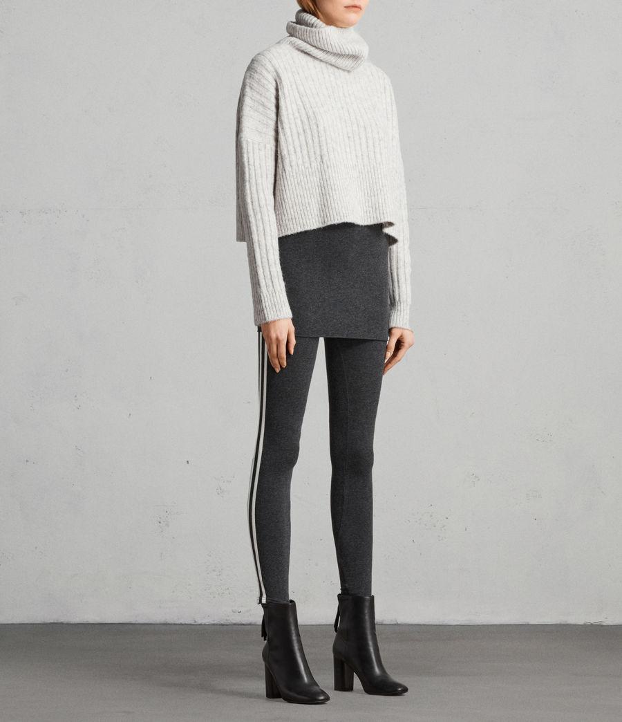 Women's Raffi Side Stripe Leggings (charcoal_grey) - Image 3