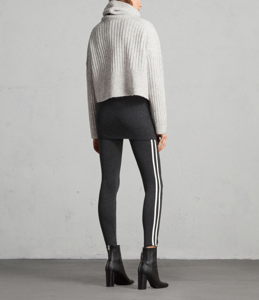 Women's Raffi Side Stripe Leggings (charcoal_grey) - Image 4