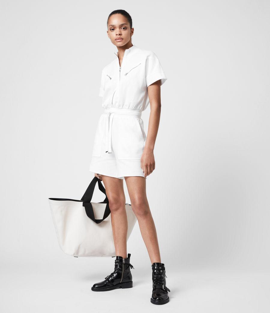 Womens Tia Romper (optic_white) - Image 7
