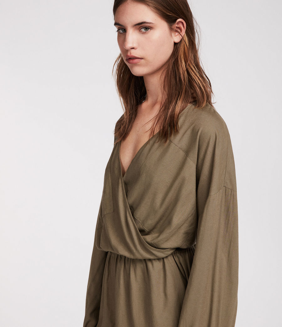 Women's Penny Playsuit (khaki_green) - Image 2