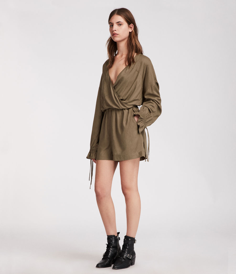 Women's Penny Playsuit (khaki_green) - Image 3