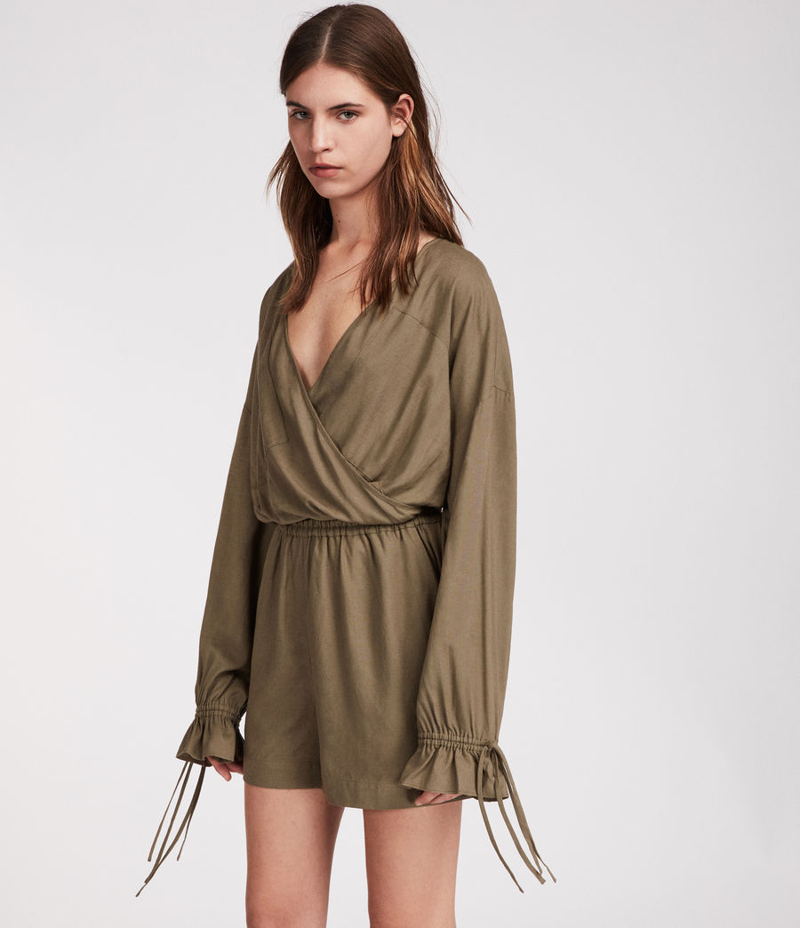 Women's Penny Playsuit (khaki_green) - Image 4