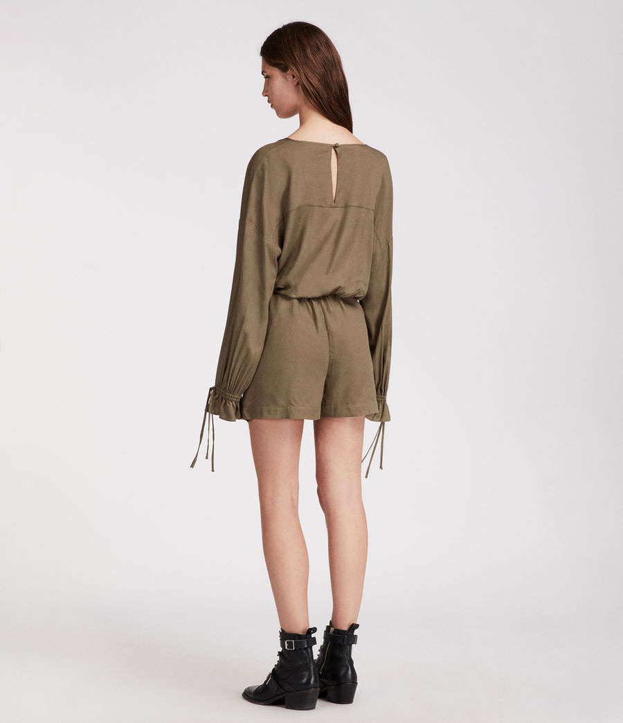 Women's Penny Playsuit (khaki_green) - Image 5