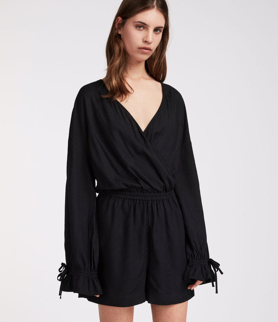 Women's Penny Playsuit (black) - Image 1