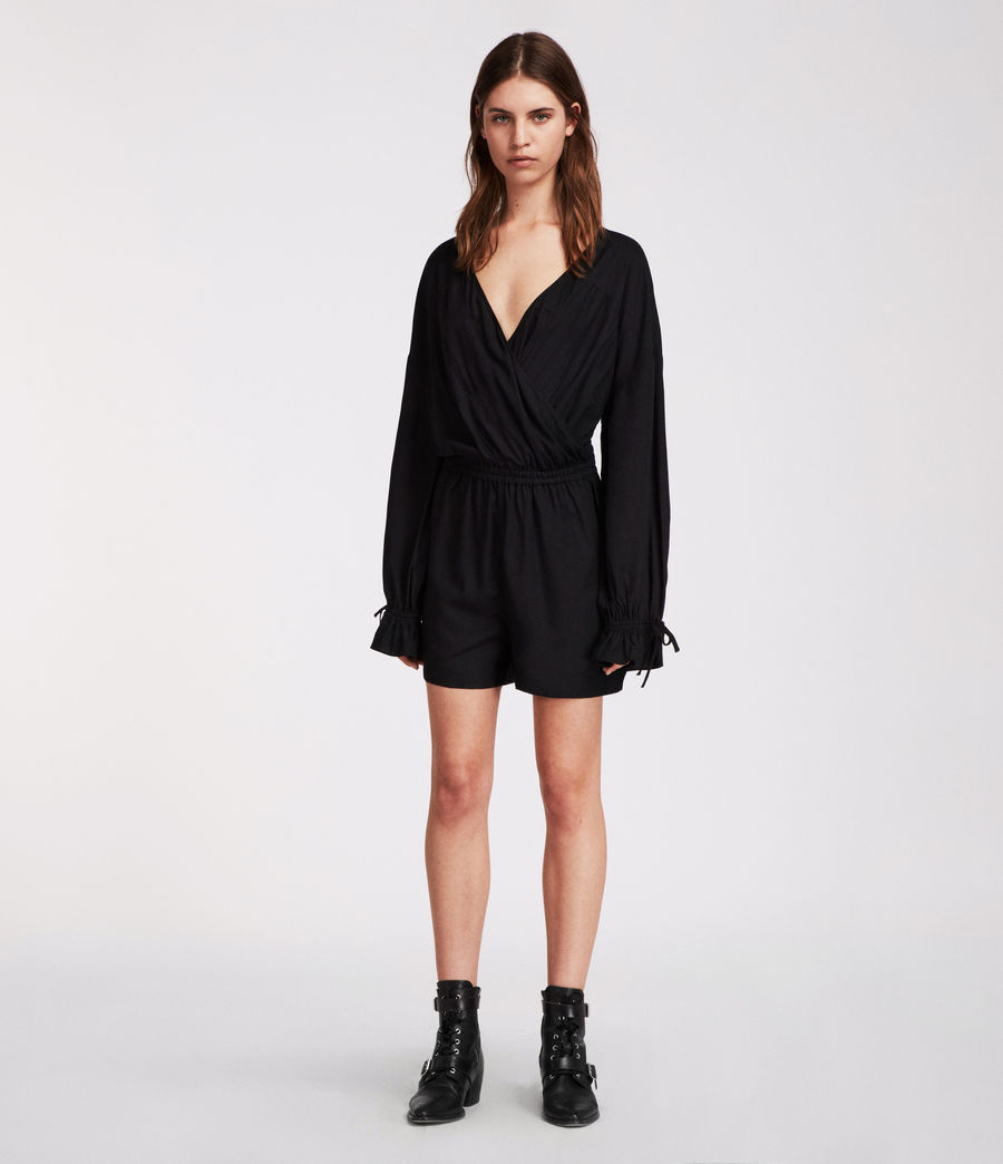 Women's Penny Playsuit (black) - Image 2