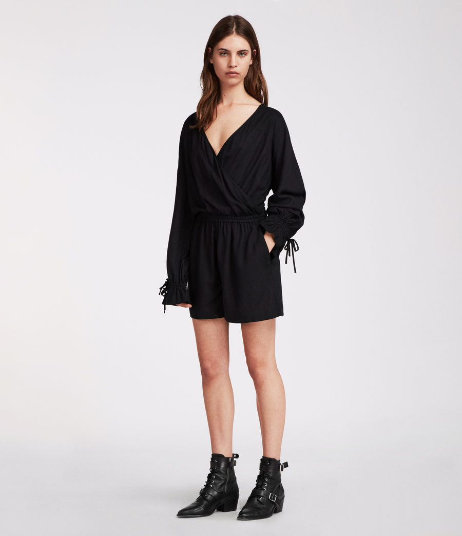 Women's Penny Playsuit (black) - Image 4