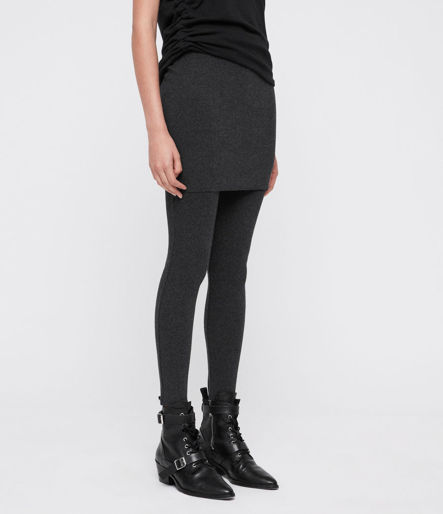 Mujer Raffi Rib Pencil Leggings (charcoal_grey) - Image 3