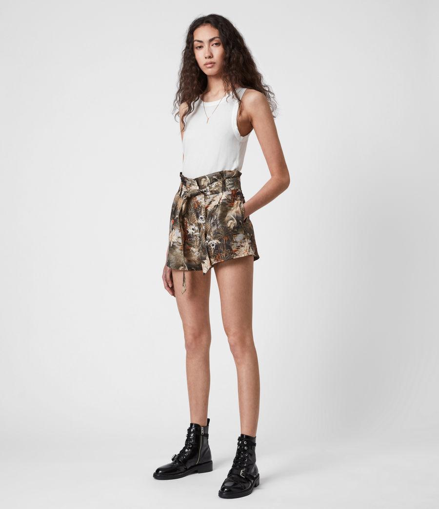 Womens Cori Rejuvenate Shorts (khaki_green) - Image 1
