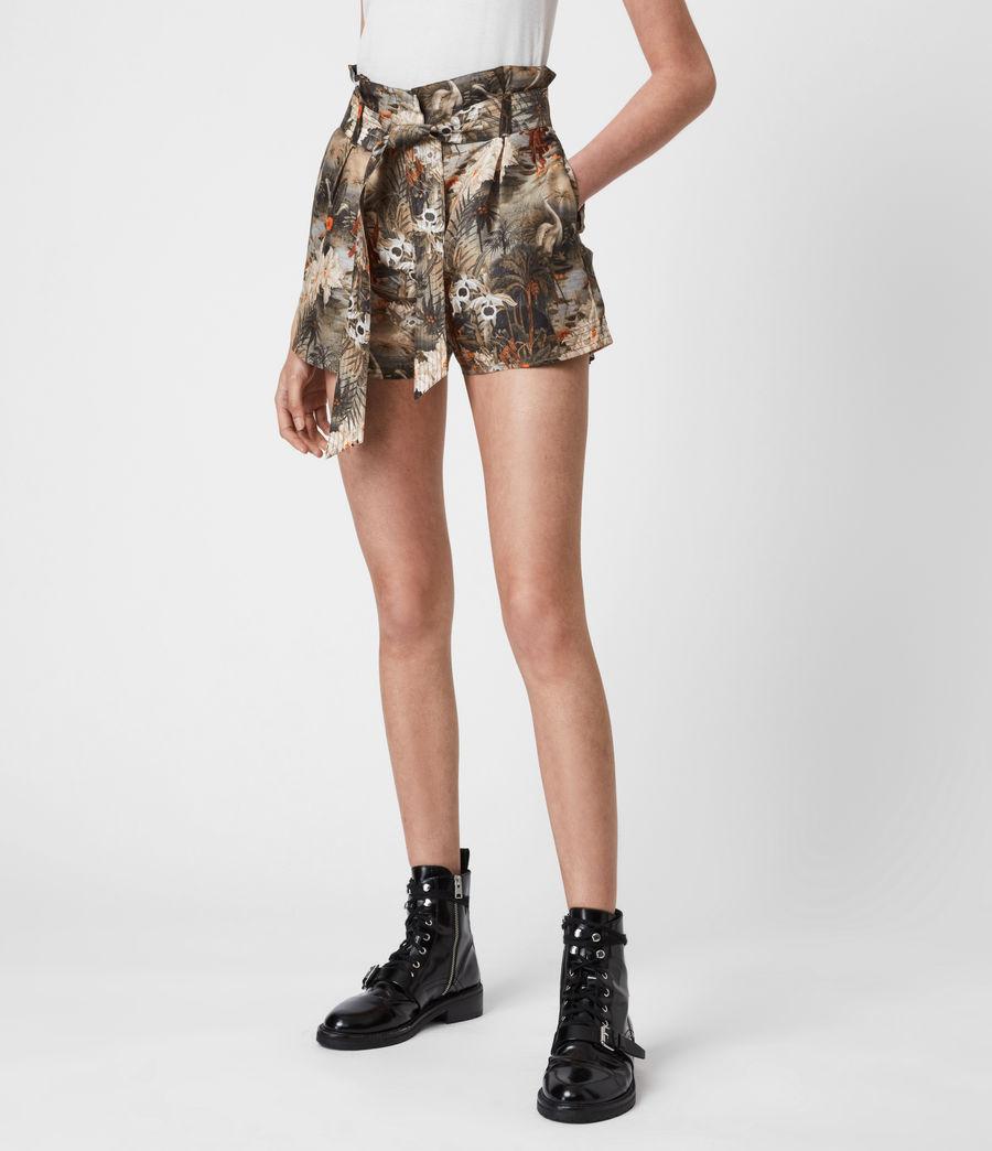 Womens Cori Rejuvenate Shorts (khaki_green) - Image 4