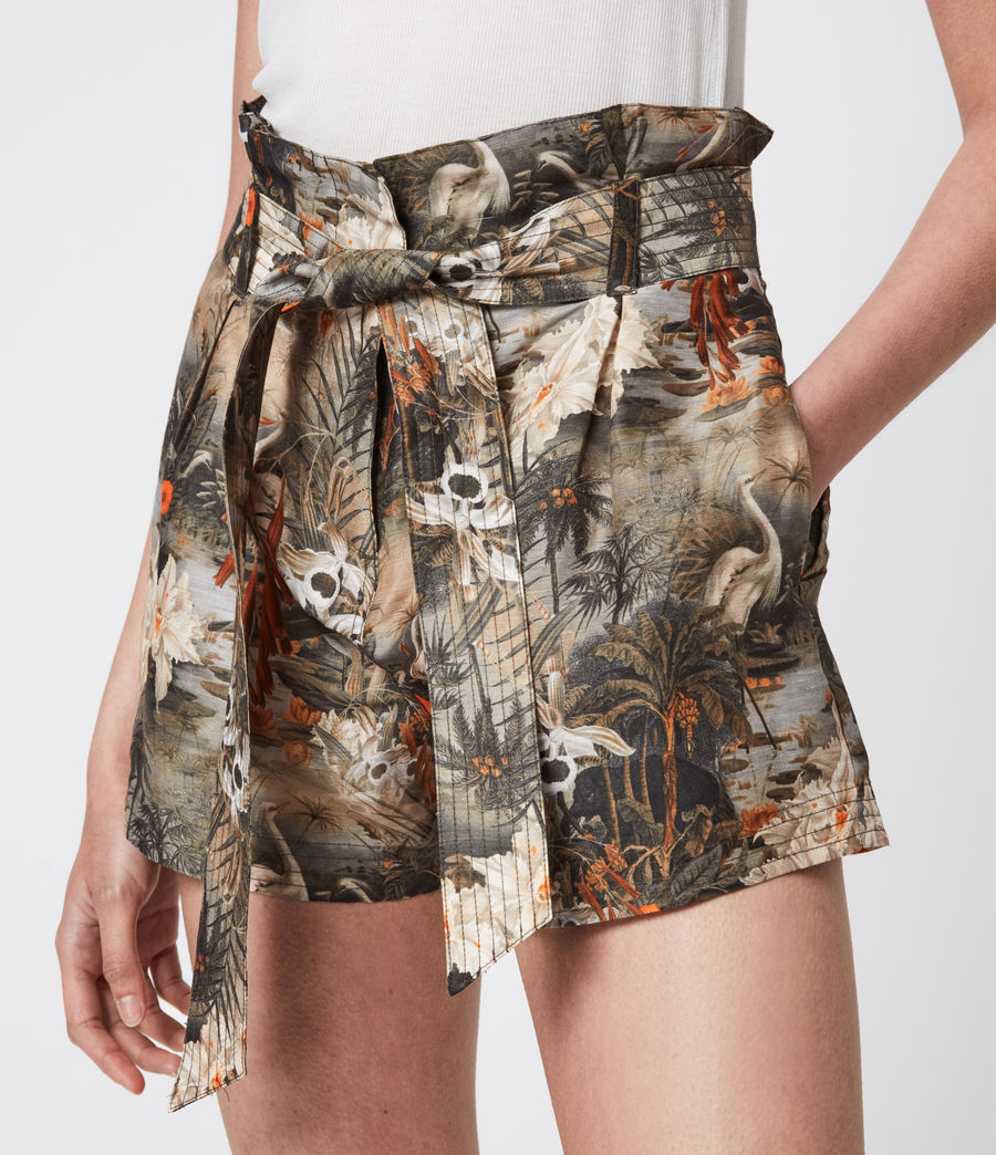 Womens Cori Rejuvenate Shorts (khaki_green) - Image 6