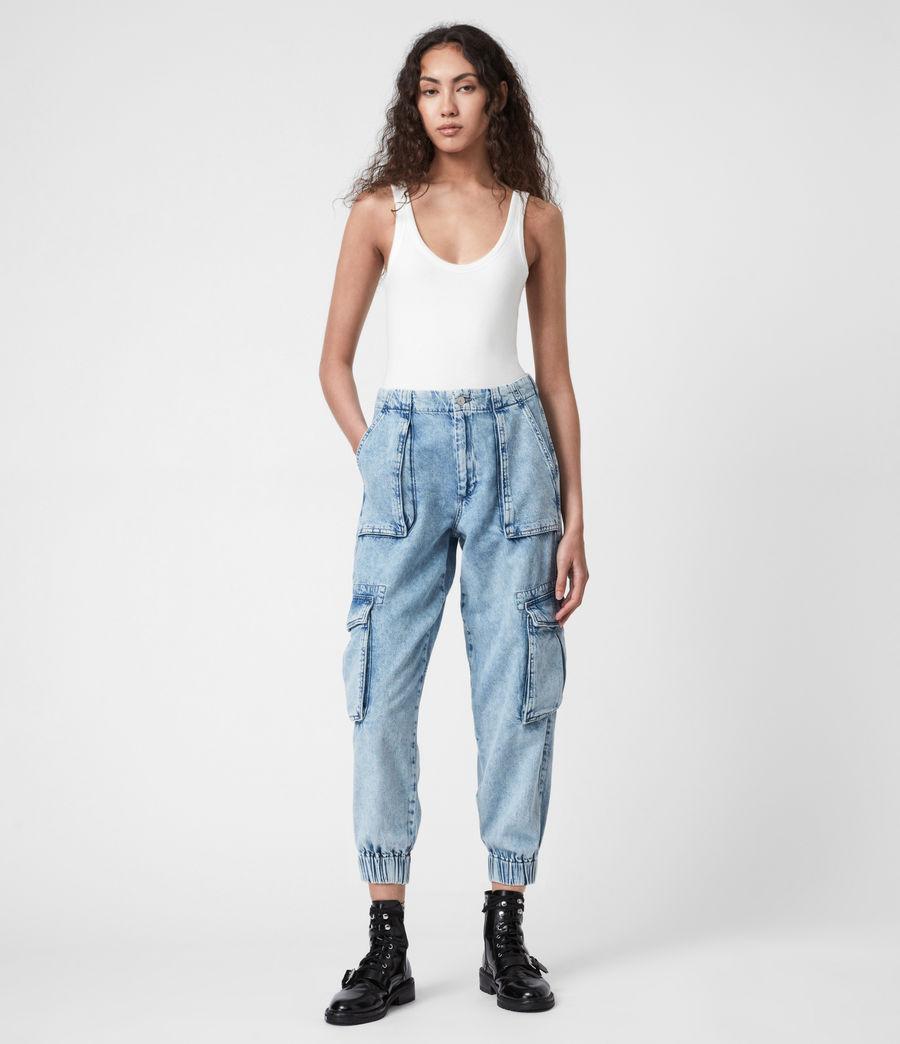 Women's Frieda Denim Trousers (indigo_blue) - Image 1