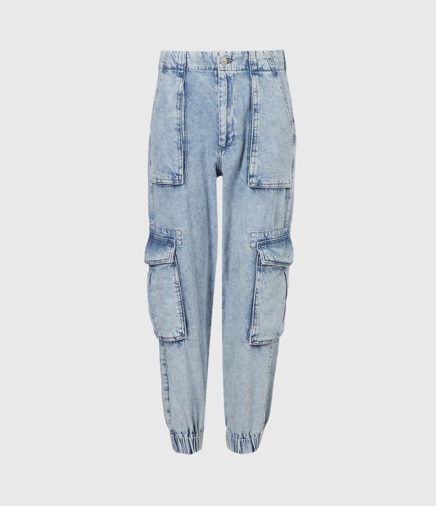 Women's Frieda Denim Trousers (indigo_blue) - Image 2