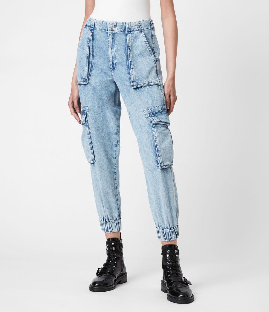 Women's Frieda Denim Trousers (indigo_blue) - Image 4
