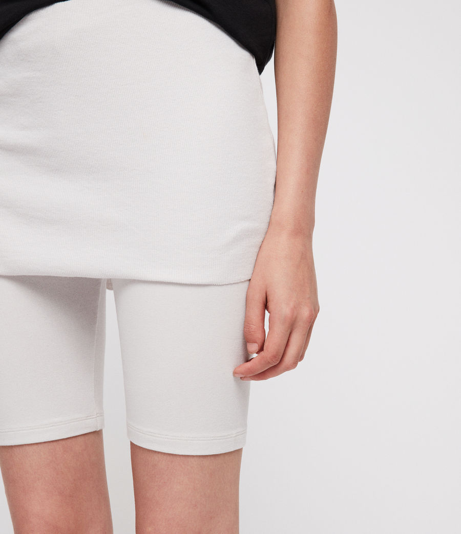 Women's Raffi Cycling Shorts (ivory_white) - Image 2