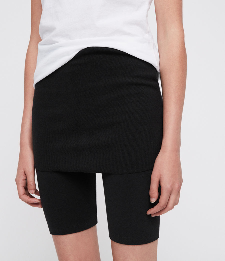 Womens Raffi Cycling Shorts (black) - Image 2