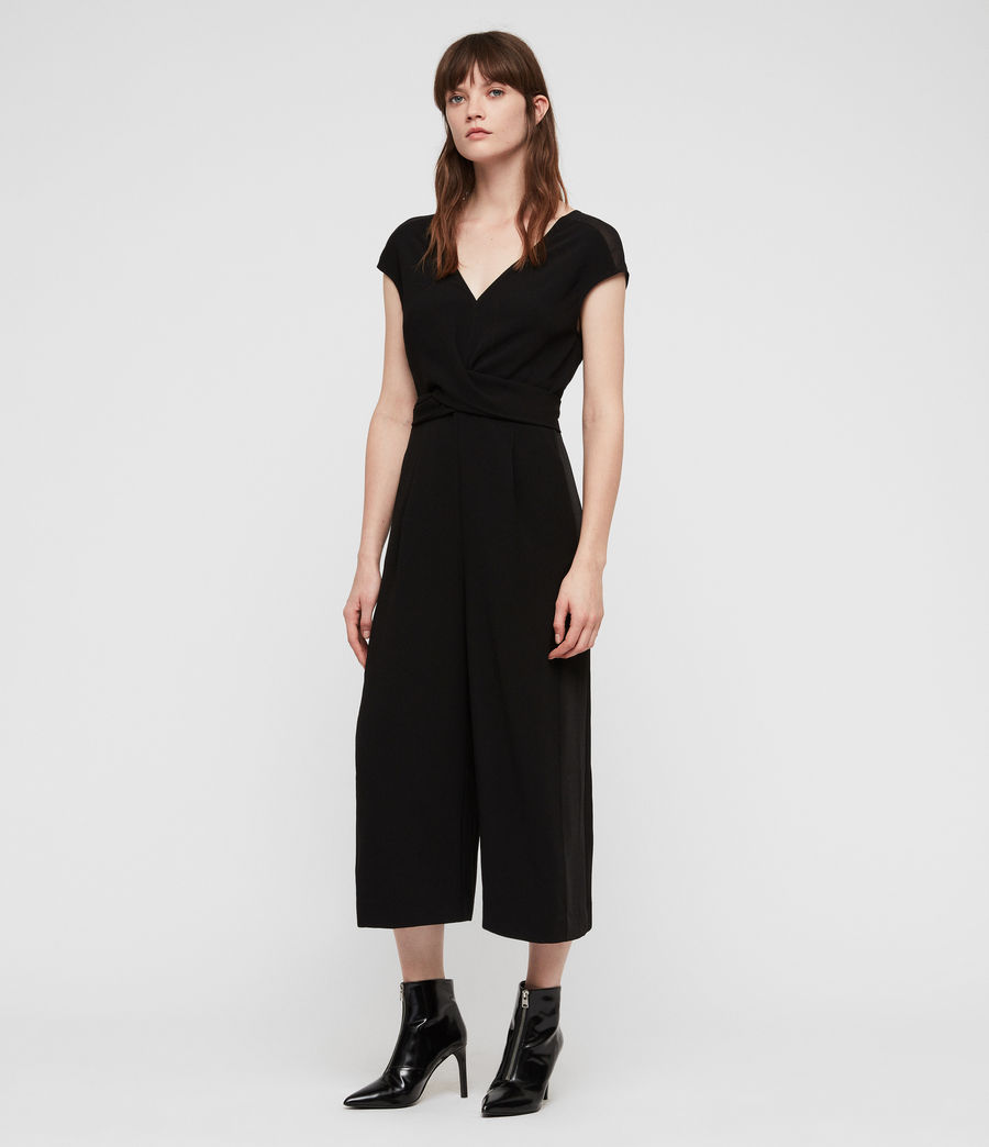 Womens Flyn Jumpsuit (black) - Image 3