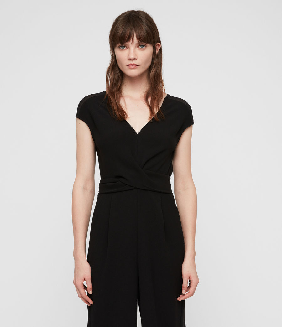 Womens Flyn Jumpsuit (black) - Image 4