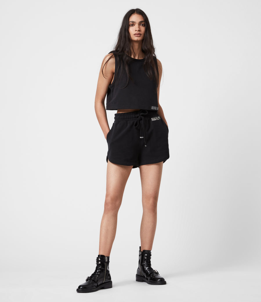 Femmes Lila Sweat Shorts (black) - Image 1