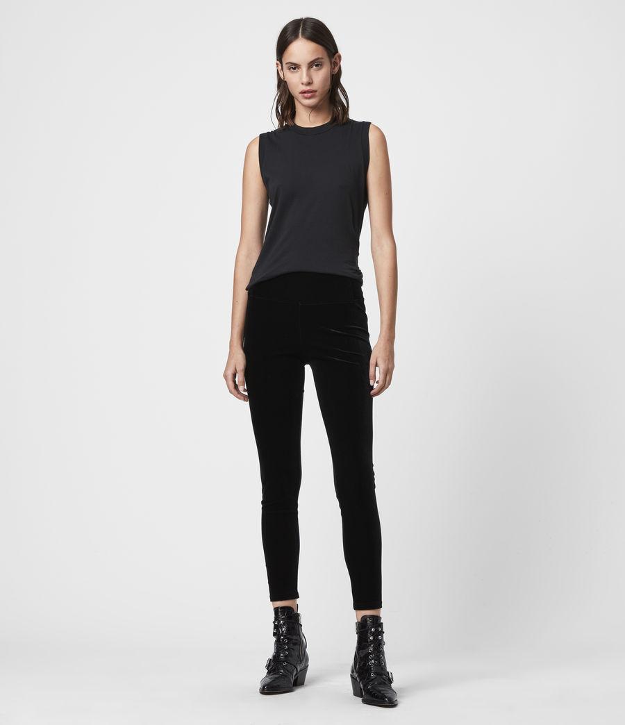 Damen Cora Velvet Leggings (black) - Image 1