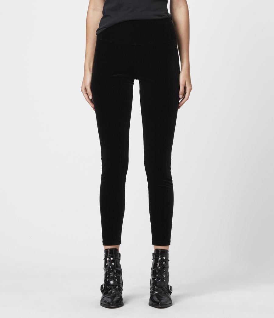Damen Cora Velvet Leggings (black) - Image 2