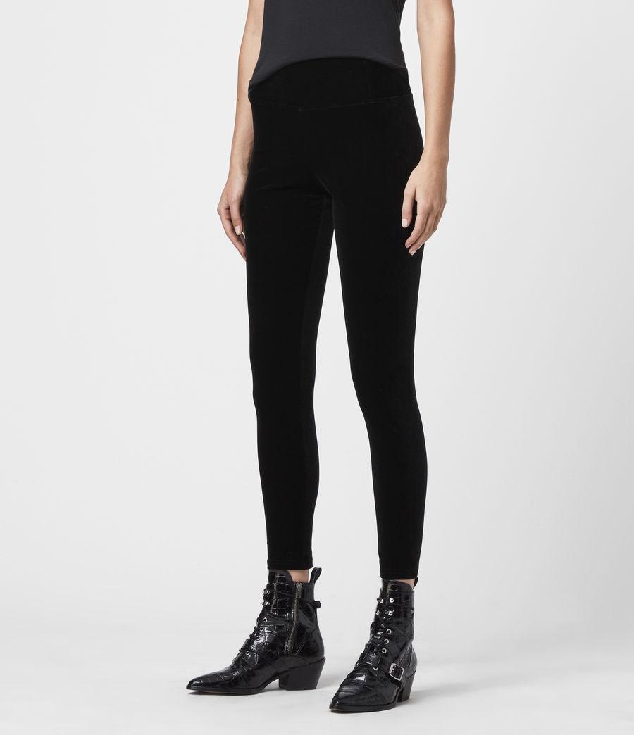 Damen Cora Velvet Leggings (black) - Image 3