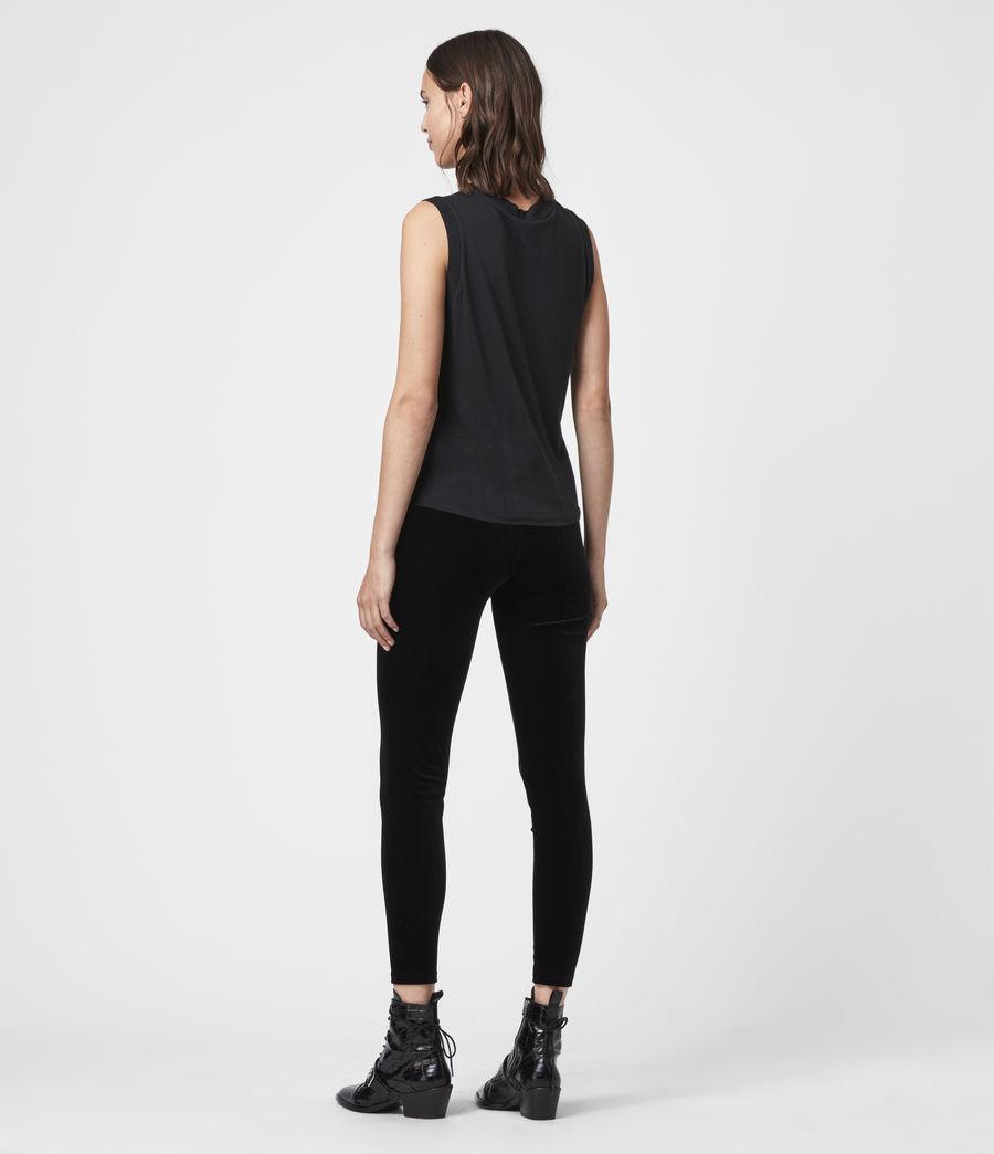 Damen Cora Velvet Leggings (black) - Image 4