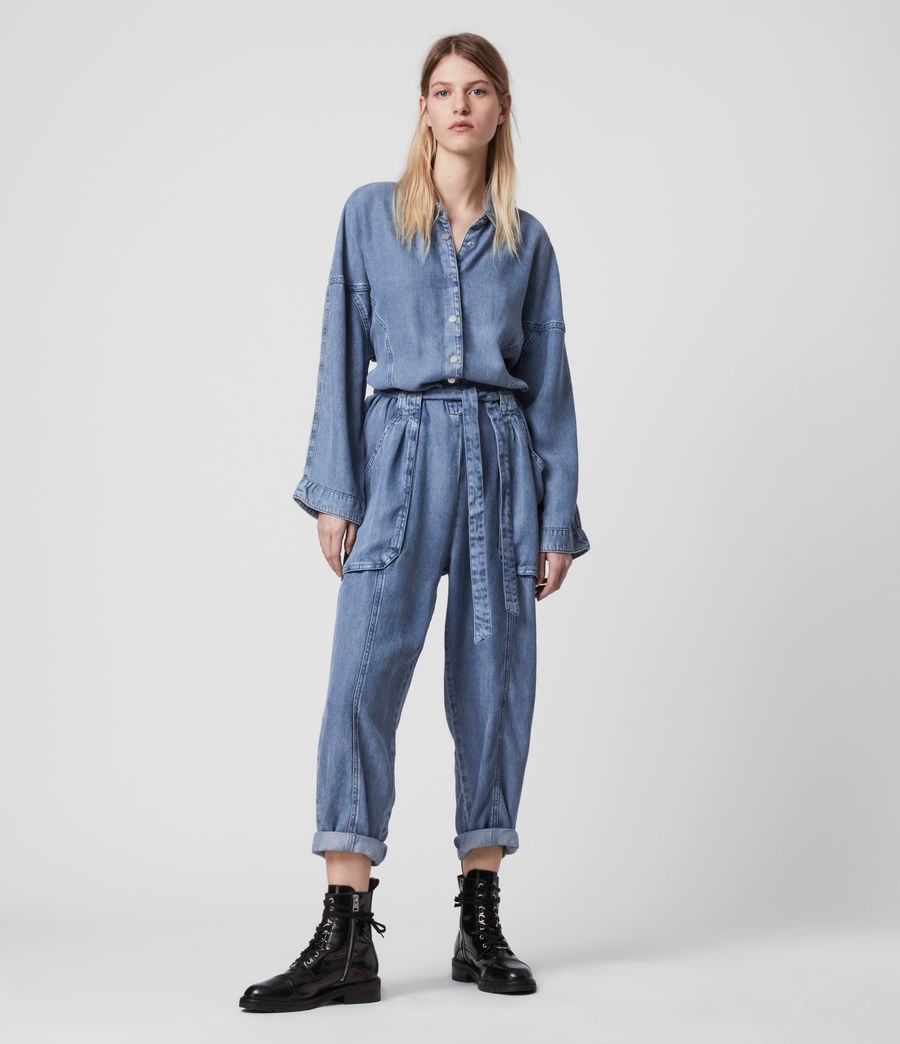 Women's Mila Denim Jumpsuit (light_indigo_blue) - Image 1