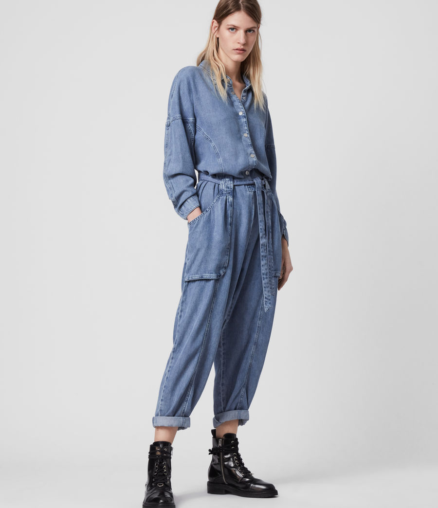 Women's Mila Denim Jumpsuit (light_indigo_blue) - Image 3