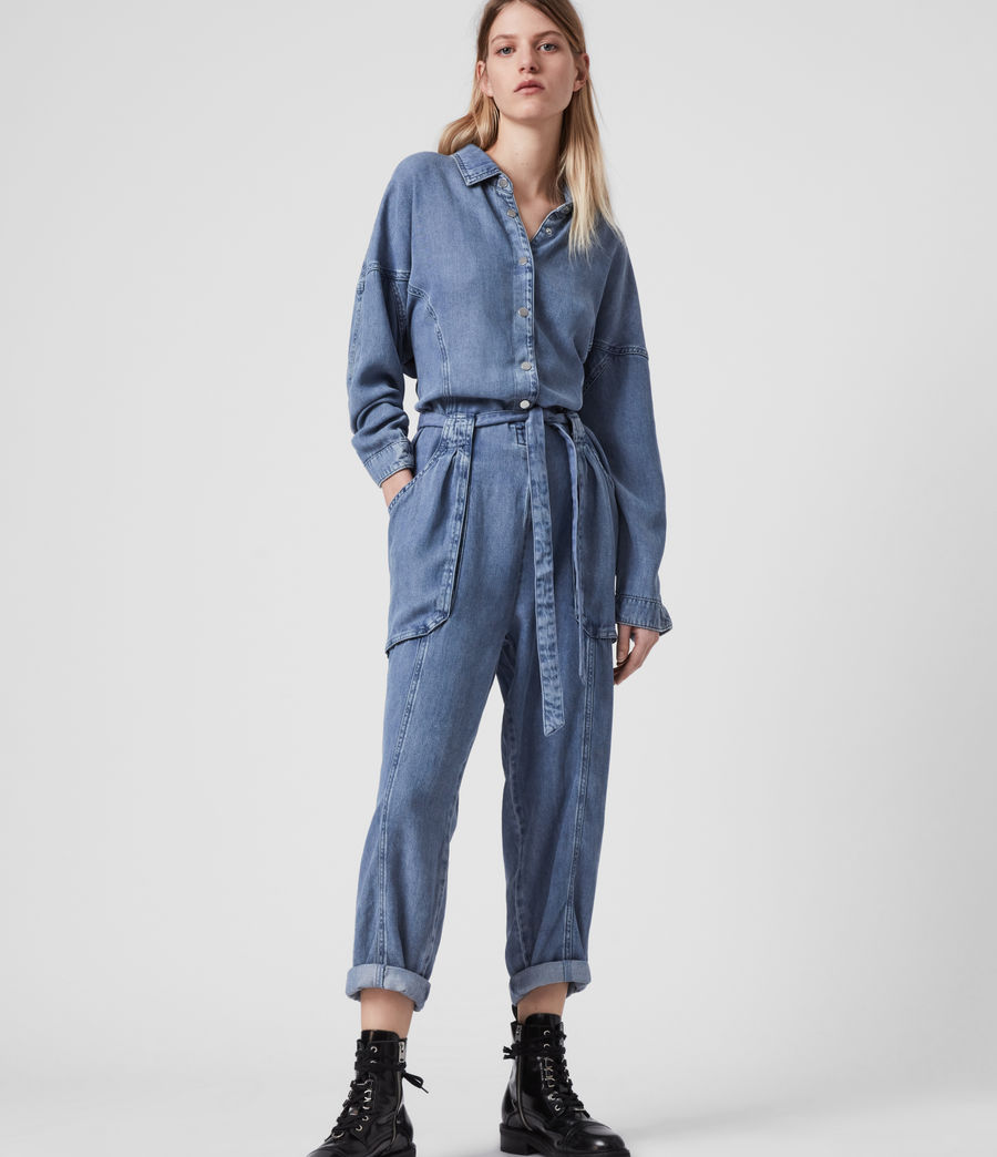 Women's Mila Denim Jumpsuit (light_indigo_blue) - Image 4