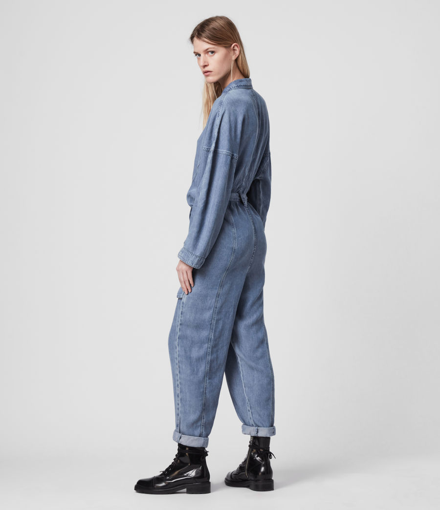Women's Mila Denim Jumpsuit (light_indigo_blue) - Image 5