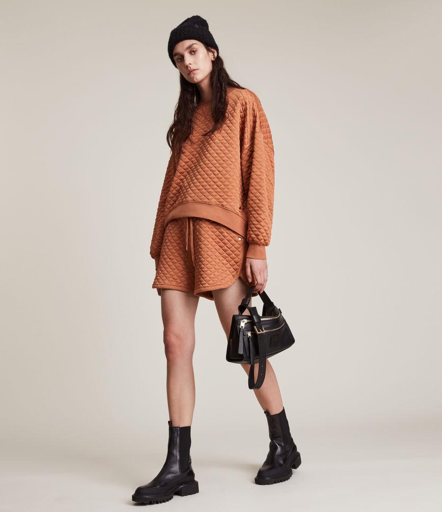 Women's Vela Sweat Shorts (rust_orange) - Image 1