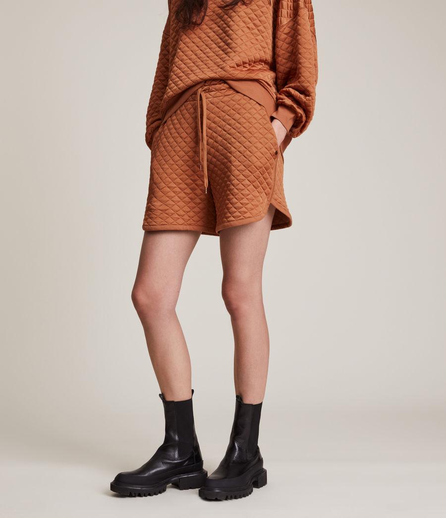 Women's Vela Sweat Shorts (rust_orange) - Image 2