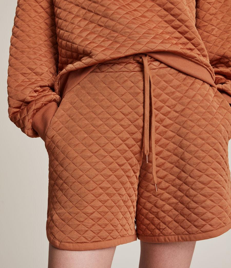 Women's Vela Sweat Shorts (rust_orange) - Image 3