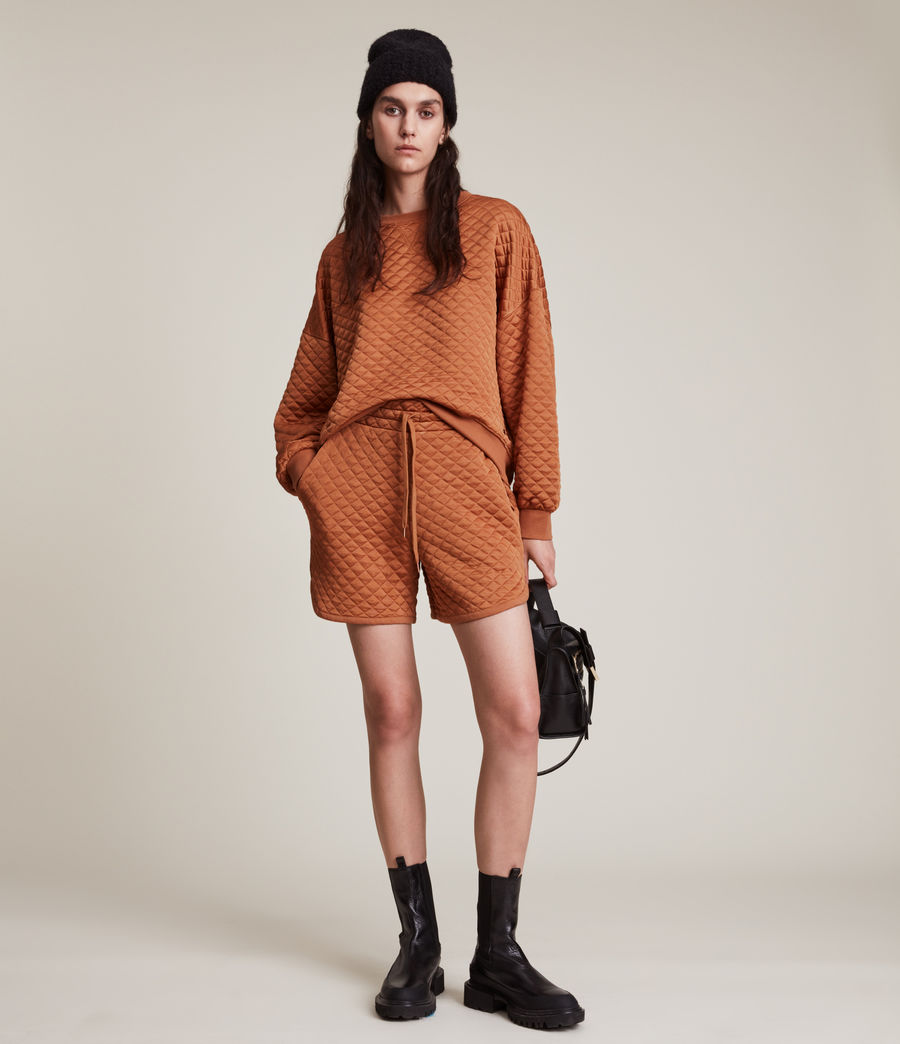 Women's Vela Sweat Shorts (rust_orange) - Image 4