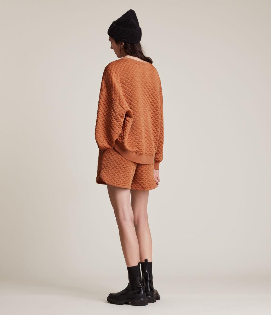 Women's Vela Sweat Shorts (rust_orange) - Image 5