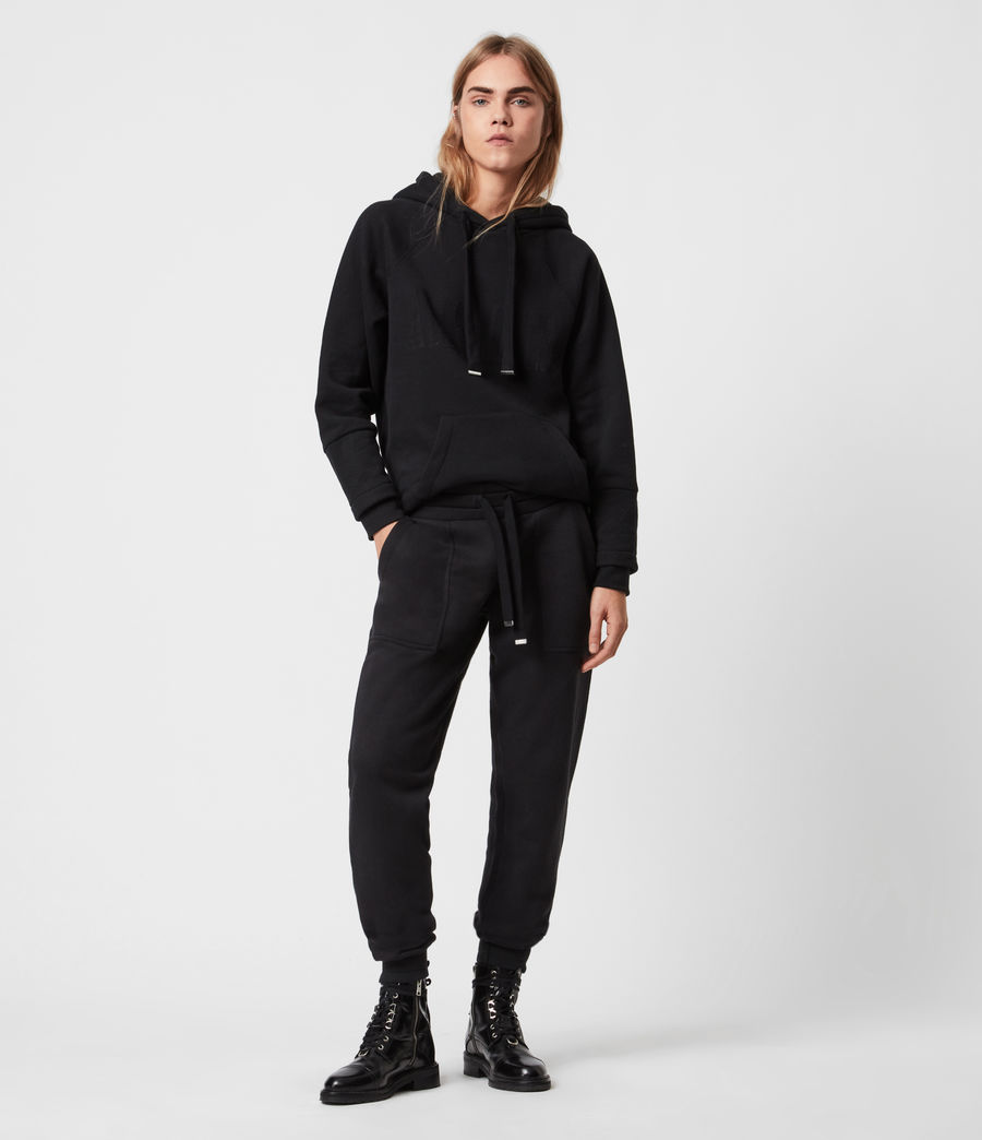 Women's Lucia Cuffed Relaxed Sweatpants (black) - Image 1