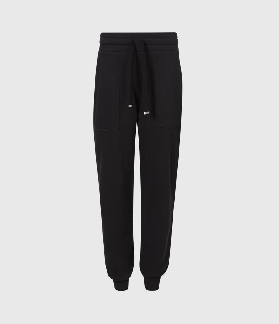 Womens Lucia Cuffed Relaxed Sweatpants (black) - Image 2