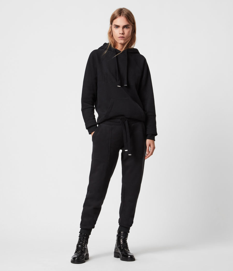 Women's Lucia Cuffed Relaxed Sweatpants (black) - Image 4
