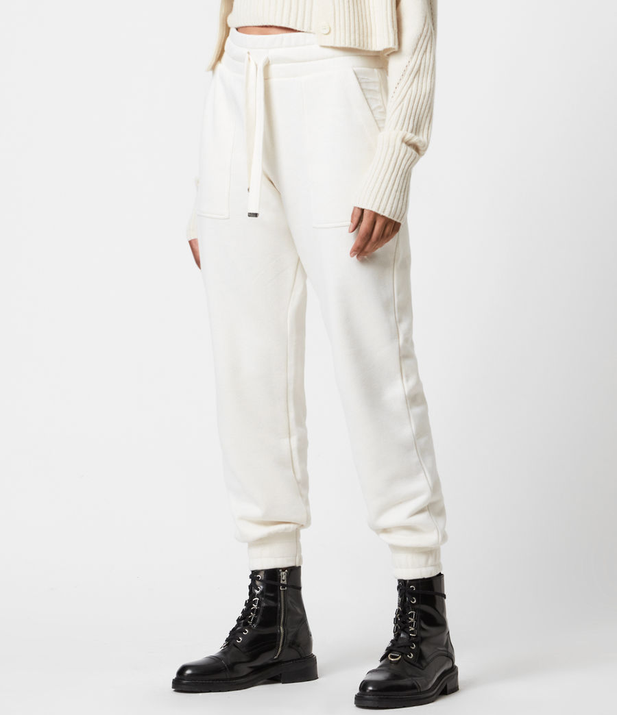 Womens Lucia Cuffed Relaxed Sweatpants (warm_white) - Image 4