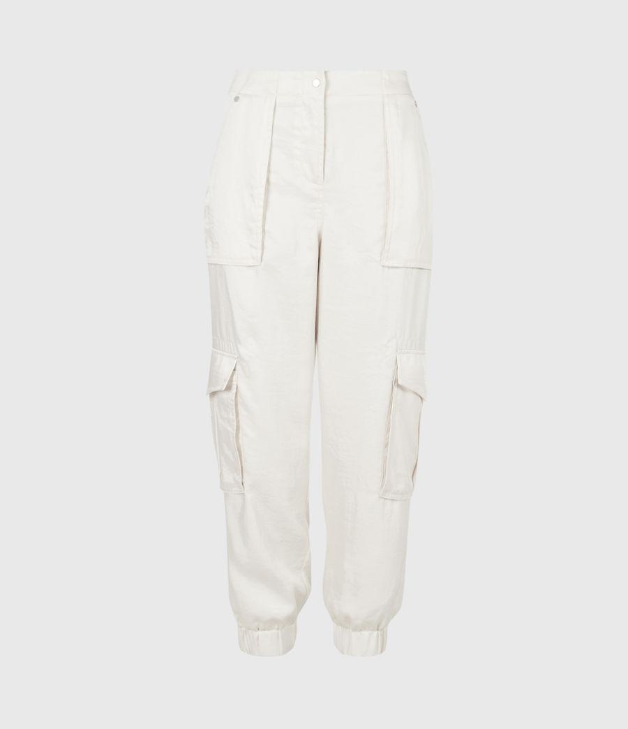 Femmes Frieda Mid-Rise Cuffed Trousers (cream_white) - Image 2