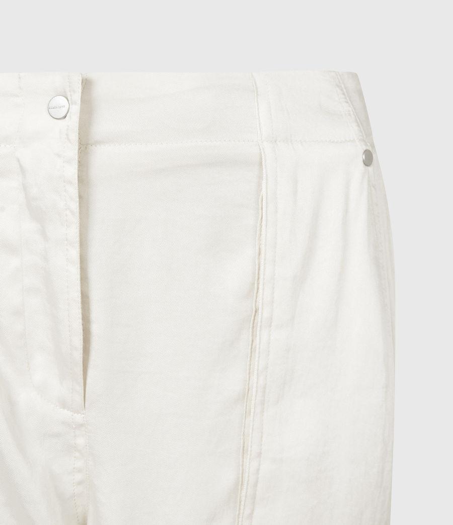 Femmes Frieda Mid-Rise Cuffed Trousers (cream_white) - Image 5
