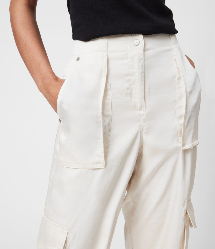 Femmes Frieda Mid-Rise Cuffed Trousers (cream_white) - Image 6