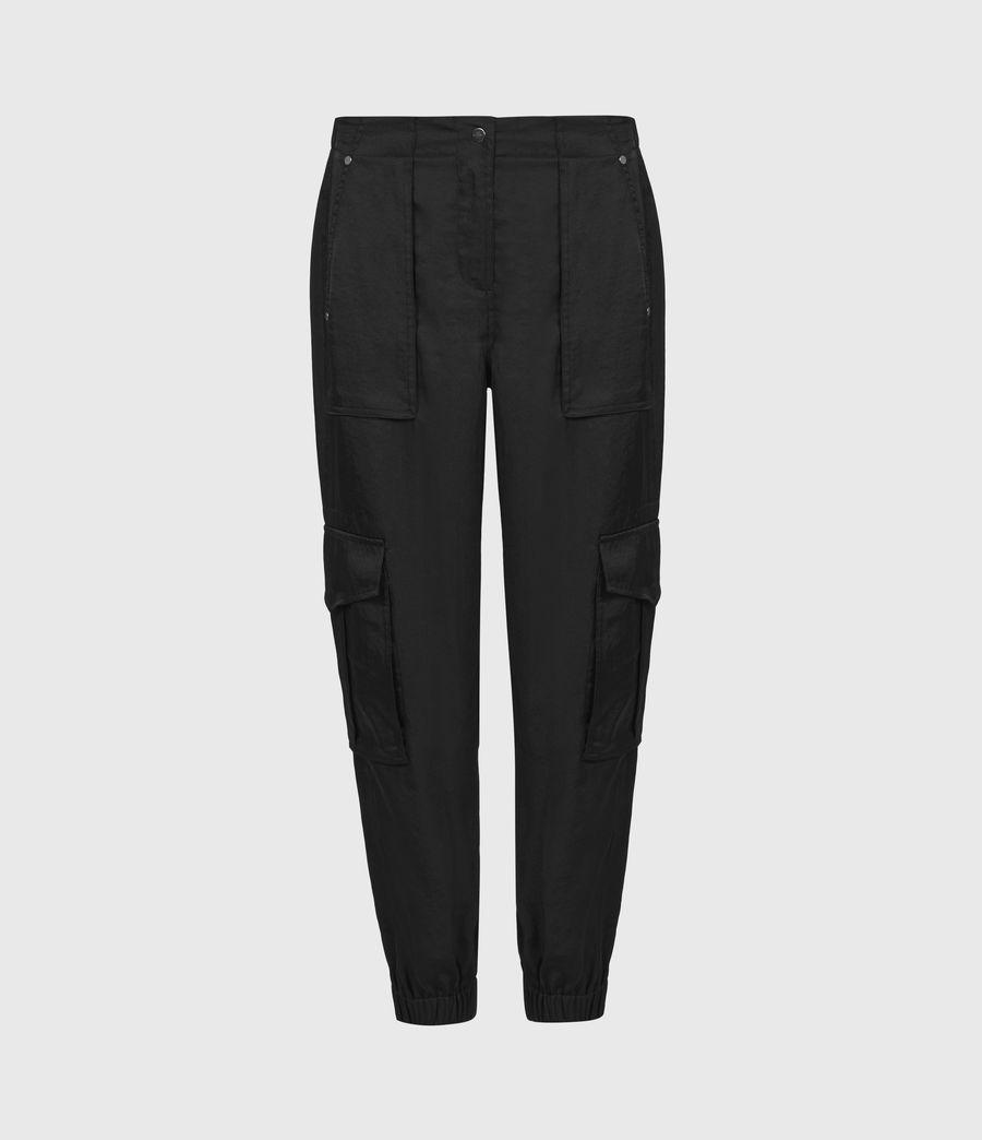 Femmes Pantalon Cargo Frieda (black) - Image 2
