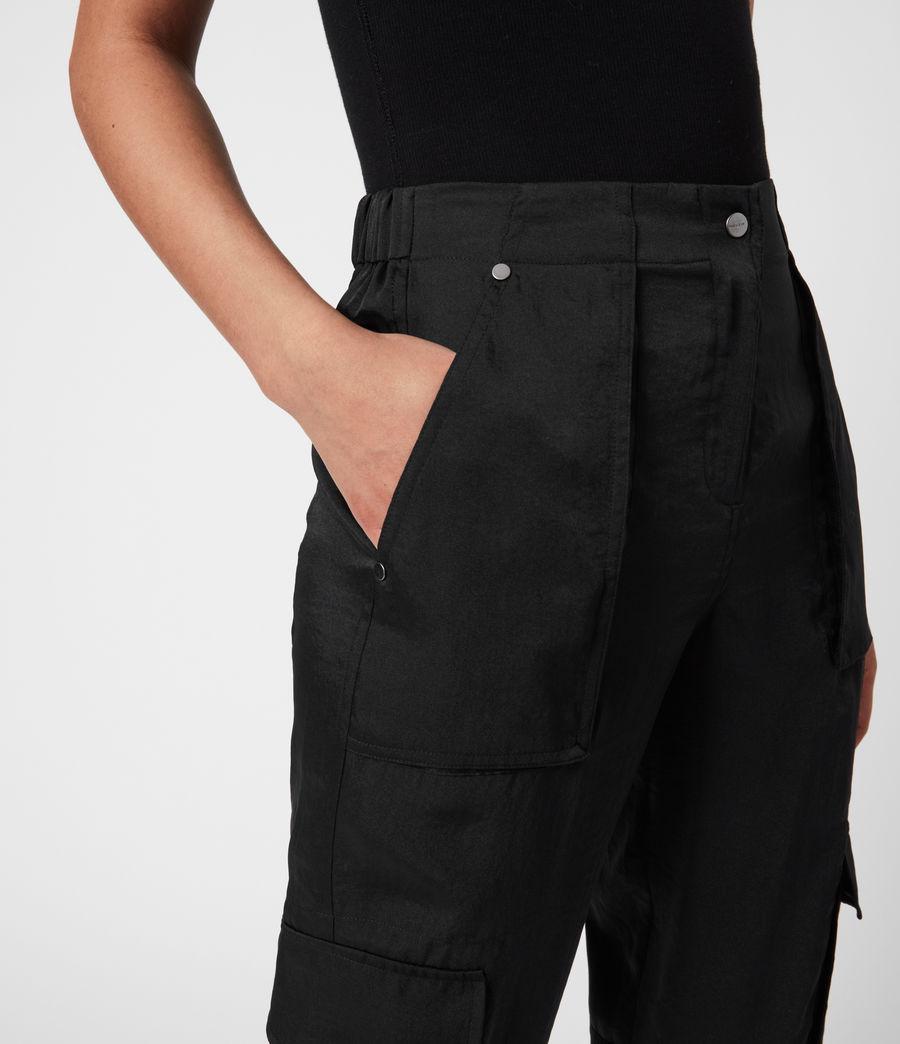 Femmes Pantalon Cargo Frieda (black) - Image 4