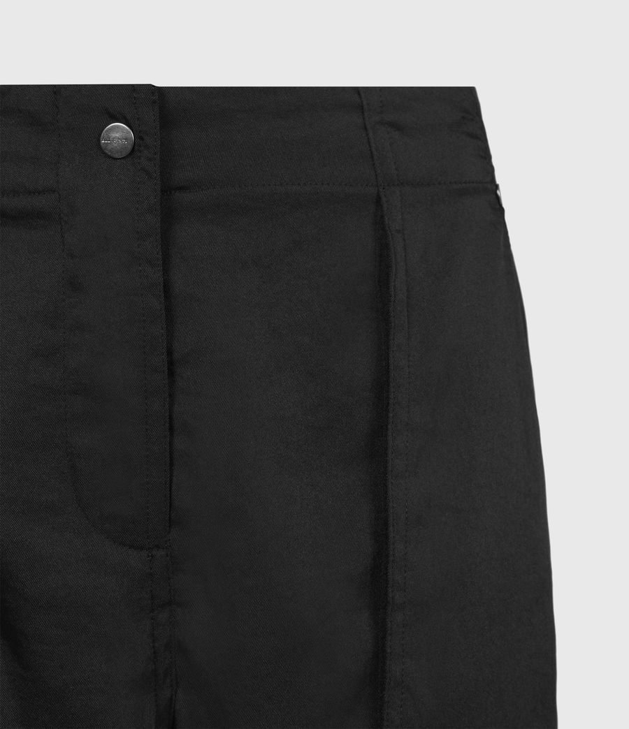 Femmes Pantalon Cargo Frieda (black) - Image 5