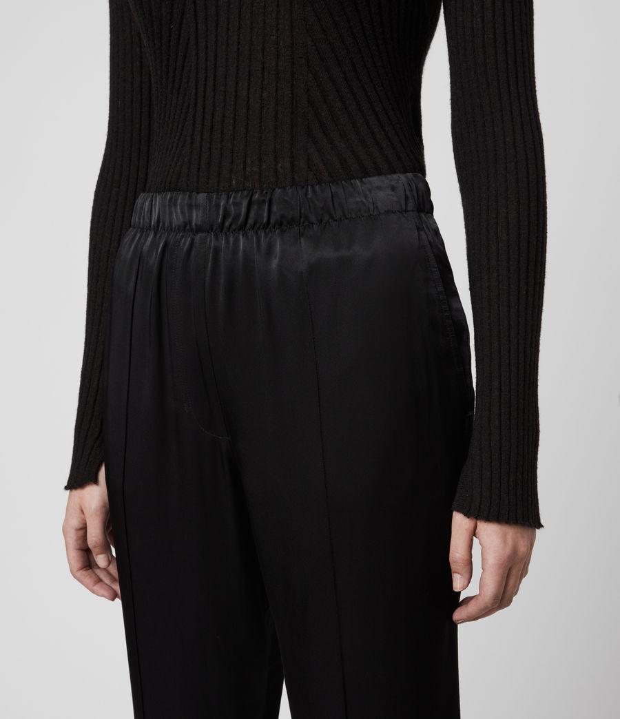 Women's Liana Mid-Rise Trousers (black) - Image 2