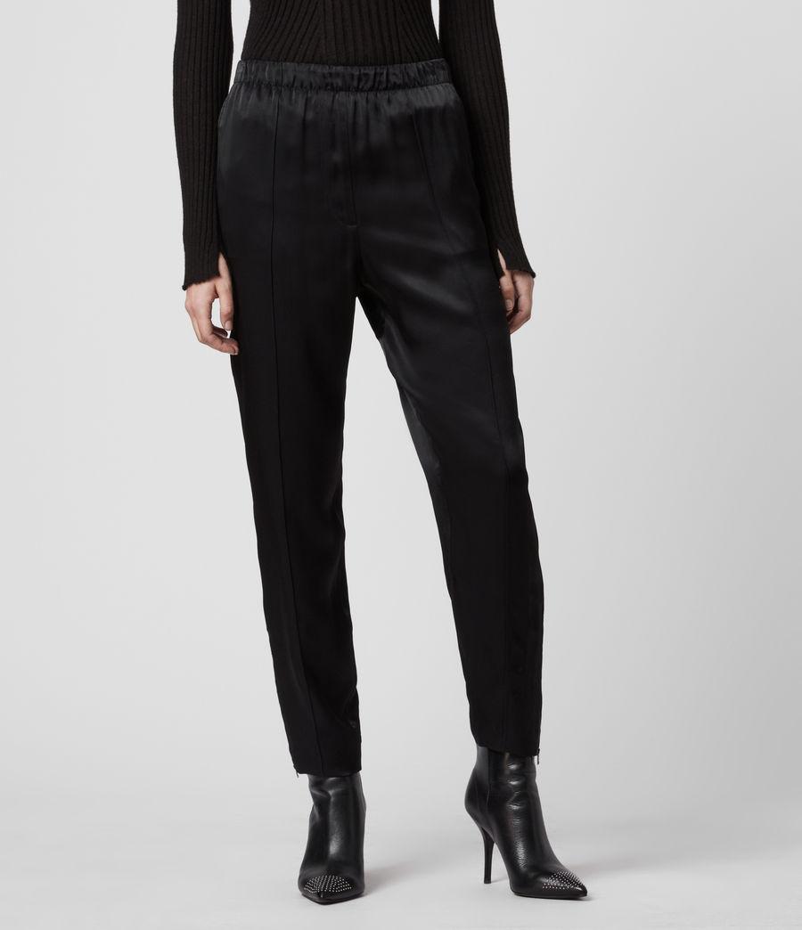 Women's Liana Mid-Rise Trousers (black) - Image 3